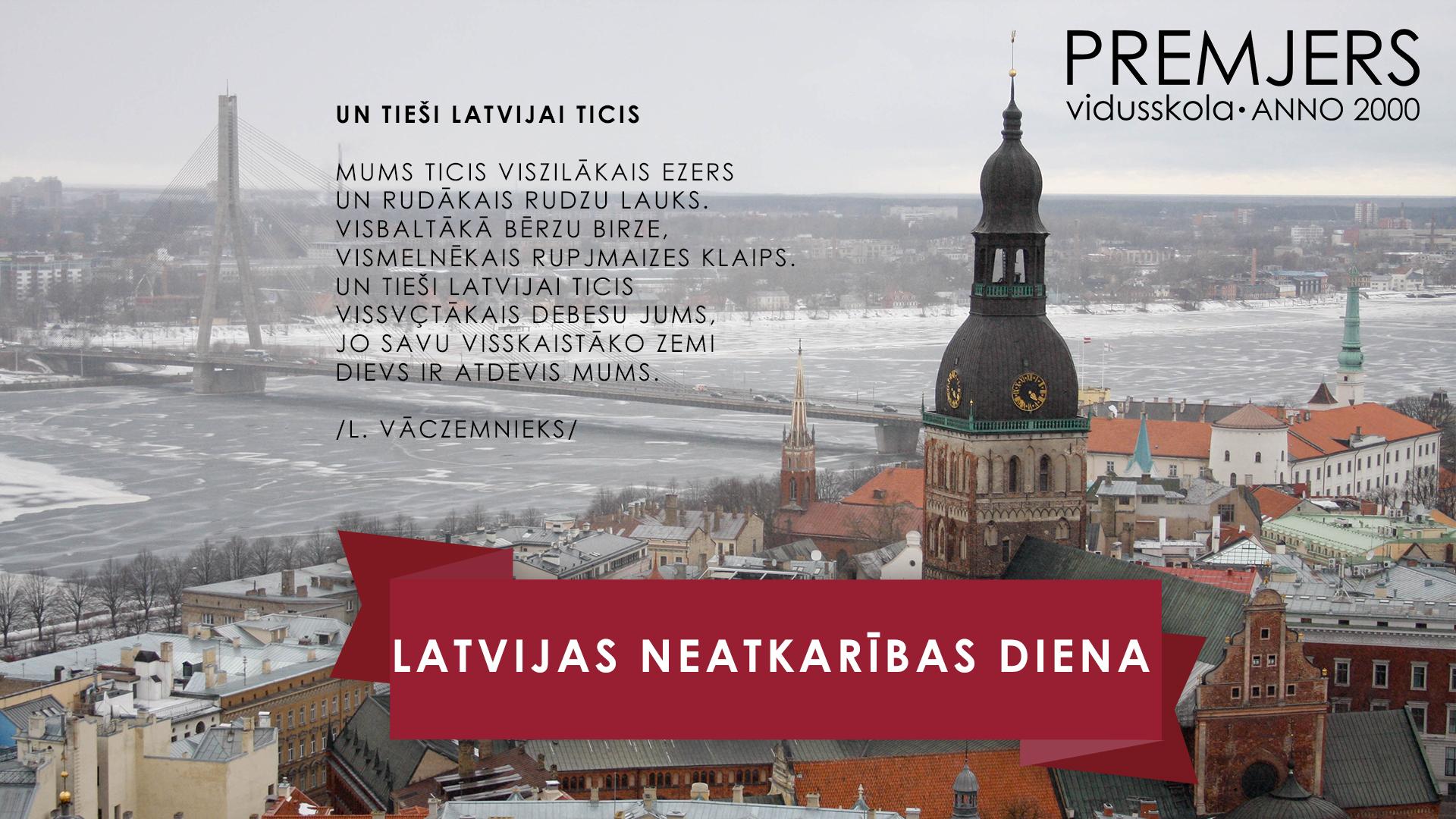 LATVIJAS REPUBLIKAS PROKLAMĒŠANAS DIENA 2020