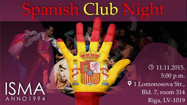 ISMA Spanish Club Night